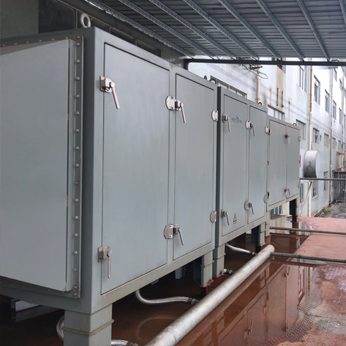 PVC film fume and odor control unit