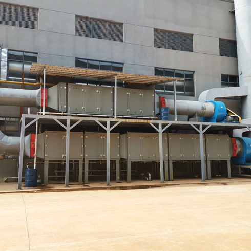 Air pollution control electrostatic smoke precipitator