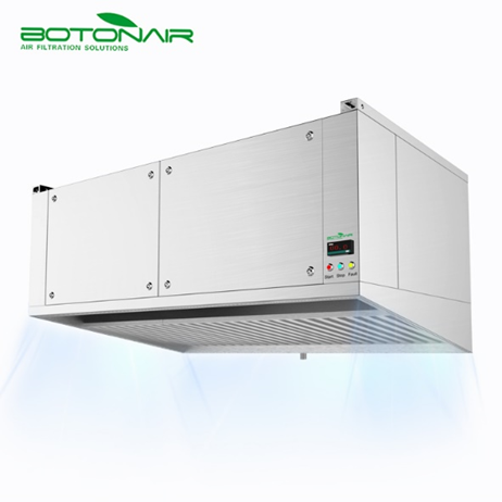 Commercial kitchen hybrid hood with exhaust filtration system