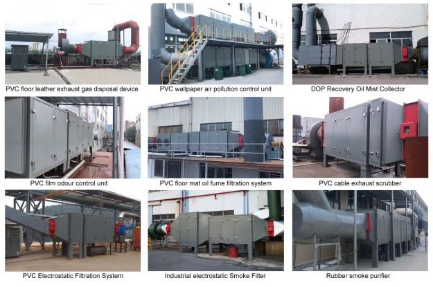 What are the factors to be considered in the selection of waste gas treatment equipment?